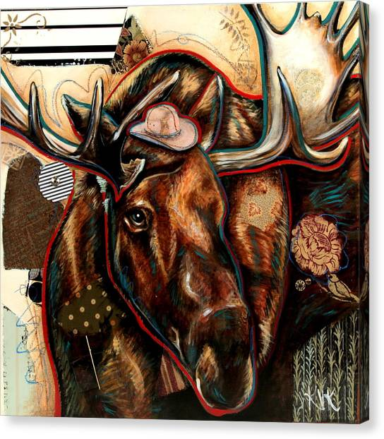The Moose Canvas Print