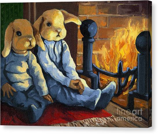 The Mopsy Twins  Canvas Print