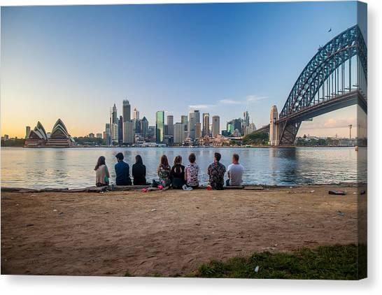Sydney Skyline Canvas Print - The Morning After by Az Jackson