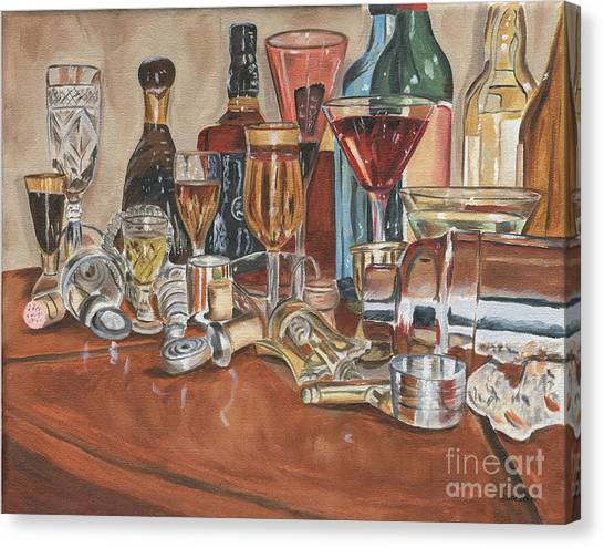 Liquor Canvas Print - The Morning After by Debbie DeWitt