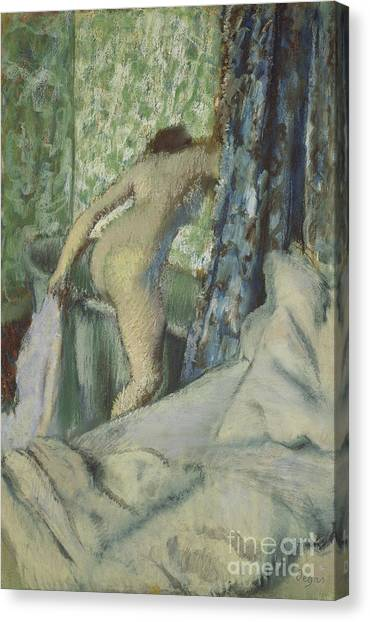 Edgar Degas Canvas Print - The Morning Bath by Edgar Degas