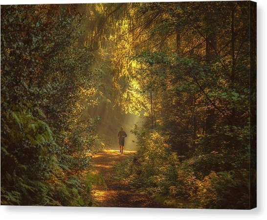 Jogging Canvas Print - The Morning Jog by Chris Fletcher