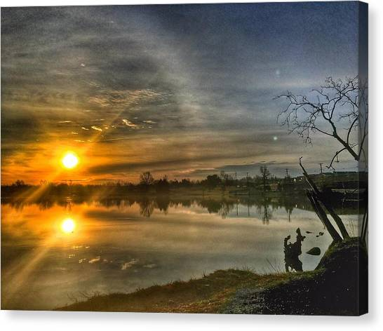 The Morning Sun Dog Canvas Print
