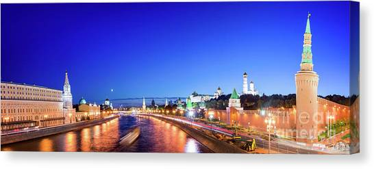 Moscow Canvas Print - Moskva River by Delphimages Photo Creations