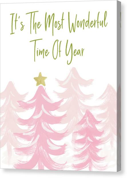Winter Canvas Print - The Most Wonderful Time- Art By Linda Woods by Linda Woods
