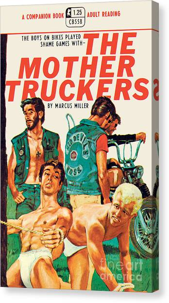 Pulp Fiction Canvas Print - The Mother Truckers by Unknown Artist