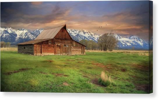 Teton National Forest Canvas Print - The Moulton Ranch by Lori Deiter