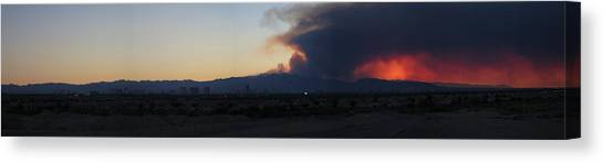 The Mount Charleston Fire Canvas Print