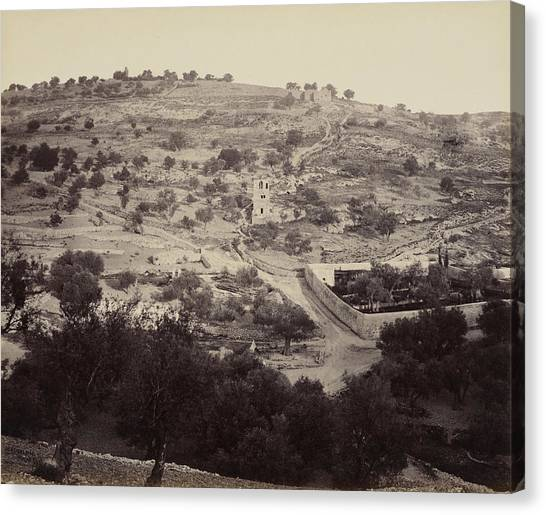 The Mount Of Olives And Garden Of Gethsemane Canvas Print