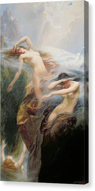 Sexuality Canvas Print - The Mountain Mists by Herbert James Draper