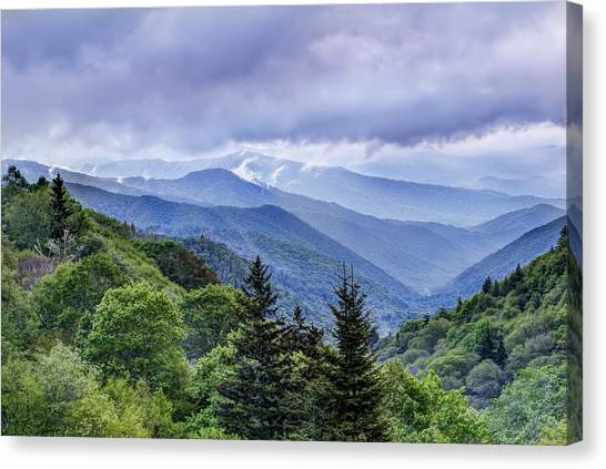 The Mountains Of Great Smoky Mountains National Park Canvas Print