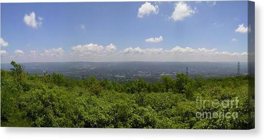 The Mountains Top View Panorama II Canvas Print by Daniel Henning