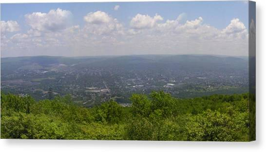 The Mountains Top View Panorama Xii Canvas Print by Daniel Henning