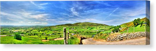 The Mournes Far And Wide Canvas Print by Kim Shatwell-Irishphotographer