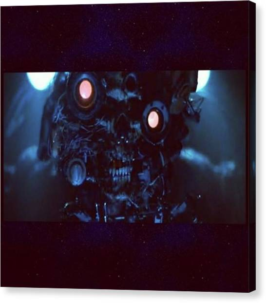 Sciencefiction Canvas Print - The Movie virus About A by XPUNKWOLFMANX Jeff Padget