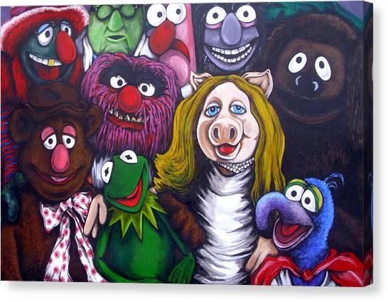 The Muppets Tribute Canvas Print by Sam Hane