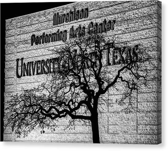 University Of North Texas Unt Canvas Print - The Murchison Performing Arts Center by JC Findley