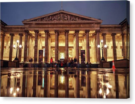 Canvas Print featuring the photograph The Museum Is Now Closed by Quality HDR Photography