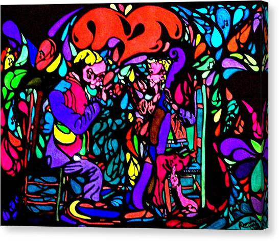 The Musicians Canvas Print by YoMamaBird Rhonda