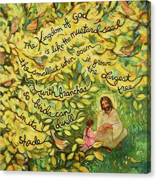 Biblical Canvas Print - The Mustard Seed by Jen Norton