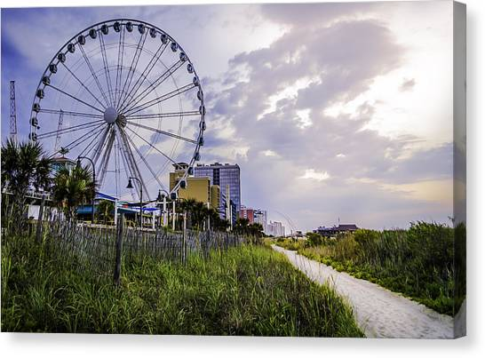 The Myrtle Beach, South Carolina Skywheel At Sunrise. Canvas Print