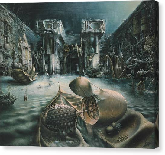 The Mystery Canvas Print by De Es Schwertberger