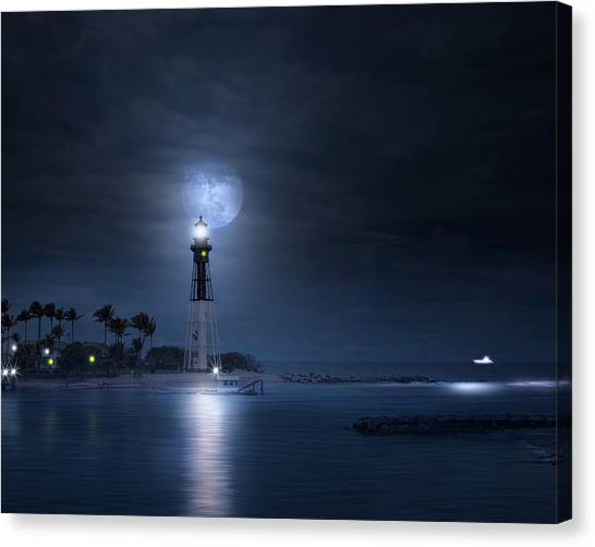The Mystery Of Lighthouse Cove Canvas Print