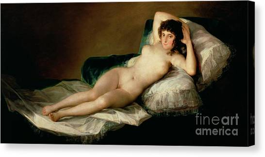 Nudes Canvas Print - The Naked Maja by Goya