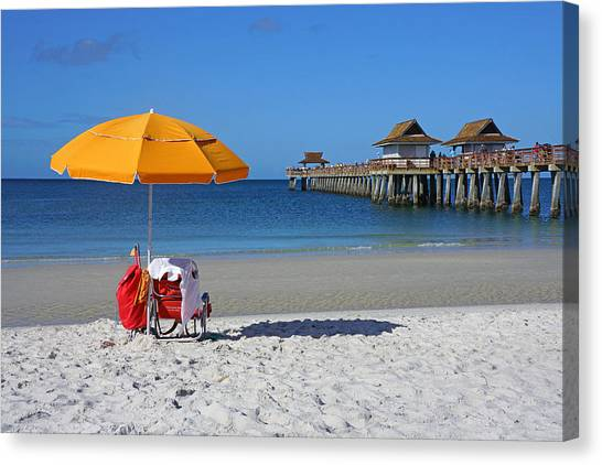 The Naples Pier Canvas Print