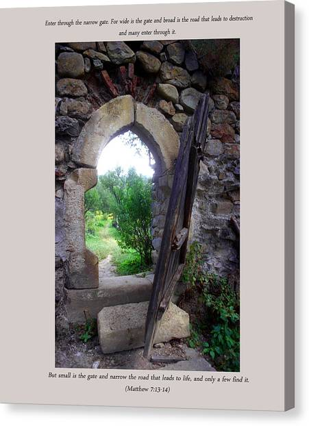 The Narrow Gate Canvas Print