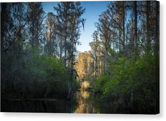 Bass Fishing Canvas Print - The Narrows by Marvin Spates