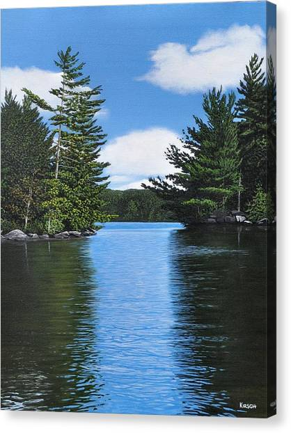 The Narrows Of Muskoka Canvas Print