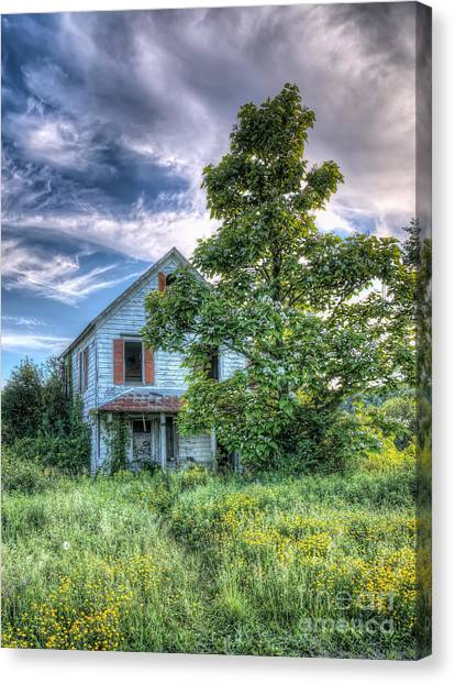 The Nathaniel White Farm House Canvas Print