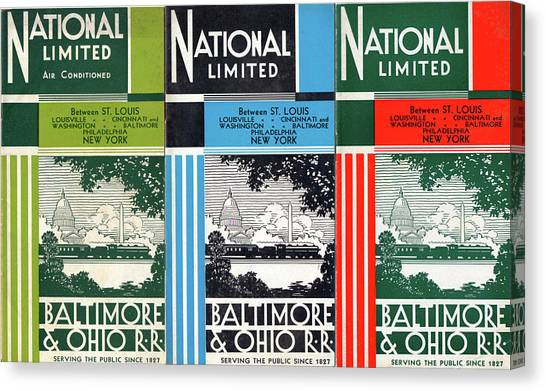 The National Limited Collage Canvas Print