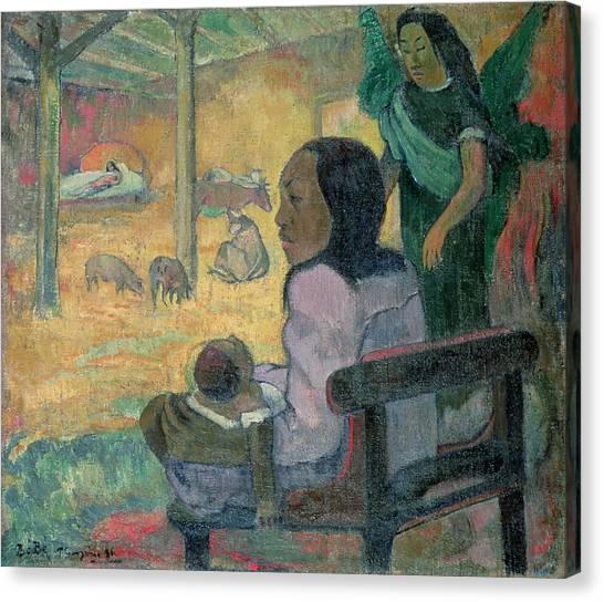 Tahiti Canvas Print - The Nativity by Paul Gauguin