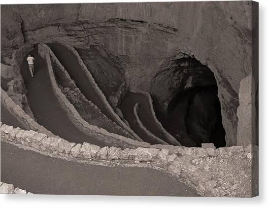 Carlsbad Caverns Canvas Print - The Natural Entrance by Brian M Lumley