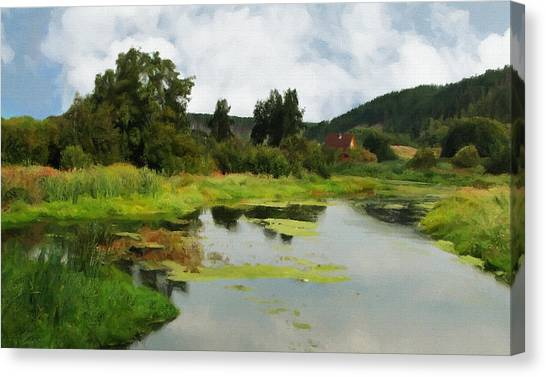 Ural Mountains Canvas Print - The Nature Of The Urals by Elena Oglezneva