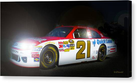 Daytona 500 Canvas Print - The Need For Speed 21 by Kenneth Krolikowski