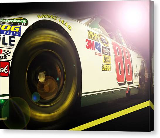 Nascar Canvas Print - The Need For Speed 88 by Kenneth Krolikowski