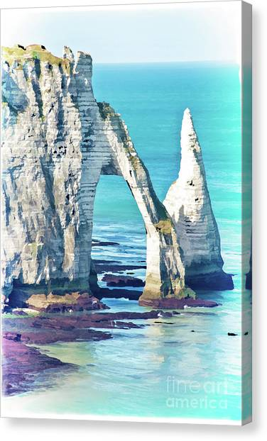 Etretat Canvas Print - The Needle Of Etretat by Delphimages Photo Creations