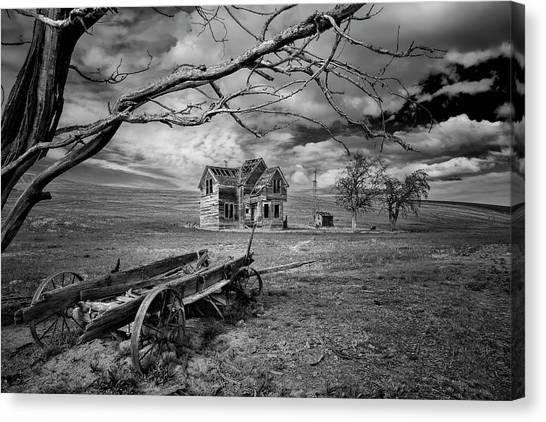 The Haunted House Canvas Print - The Nelson Homestead by Danielle Denham