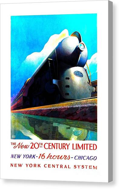 The New 20th Century Limited New York Central System 1939 Canvas Print