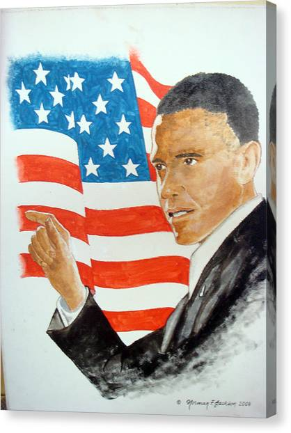 The New America Canvas Print by Norman F Jackson
