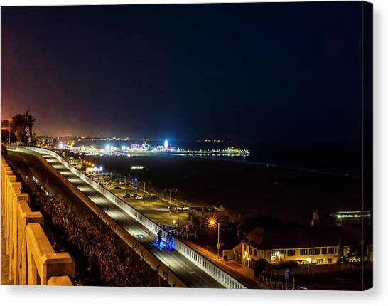 The New California Incline - Night Canvas Print