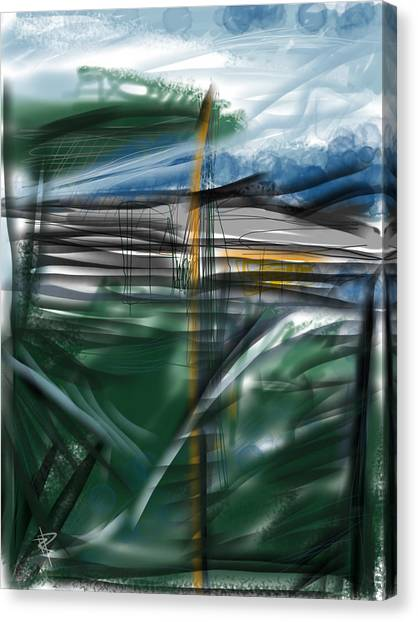 Storm Canvas Print - The New Land by Russell Pierce