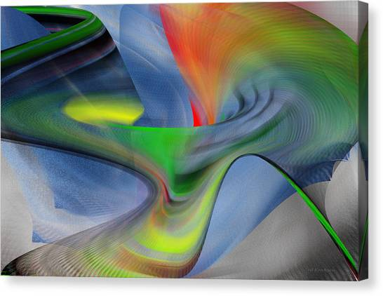 Canvas Print featuring the digital art The New One by rd Erickson