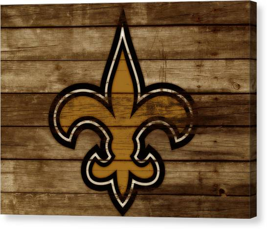 Drew Brees Canvas Print - The New Orleans Saints 3a     by Brian Reaves
