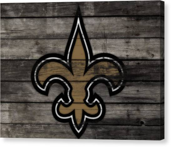 Drew Brees Canvas Print - The New Orleans Saints 3b     by Brian Reaves