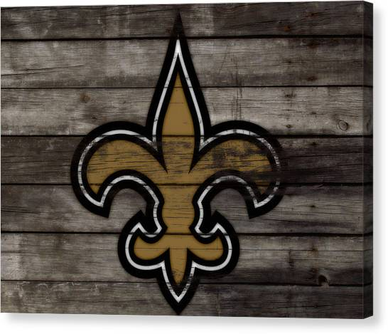 Drew Brees Canvas Print - The New Orleans Saints 3e     by Brian Reaves