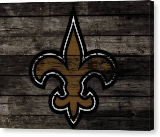 Drew Brees Canvas Print - The New Orleans Saints 3f     by Brian Reaves